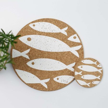 Cork Fish Placemats and Coasters