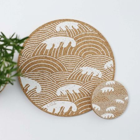 Cork Wave Placemats and Coasters