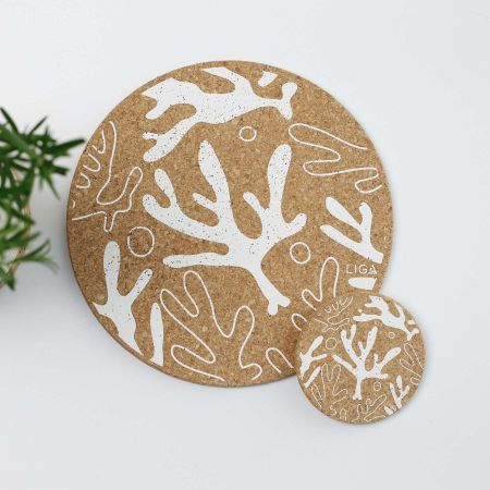 Cork Seaweed Placemats and Coasters