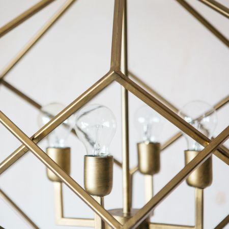 Selena Gold Prism Chandelier