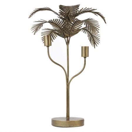 Antique Bronze Palm Table Lamp