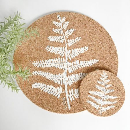 Cork Fern Placemats and Coasters