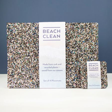 Set of Four Rectangular Beach Clean Placemats