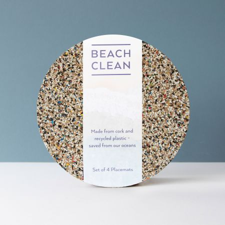 Set of Four Round Beach Clean Placemats