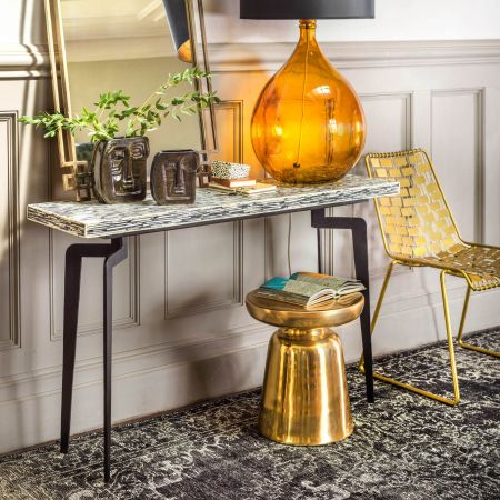 Malique Bone Console Table