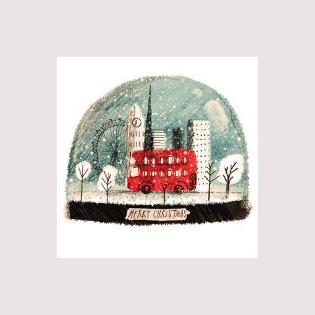 Set of Eight Snow Globe Cards