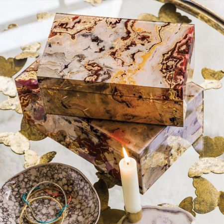 Marbled Glass Boxes