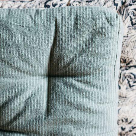 Green Stripe Woven Seat Pad