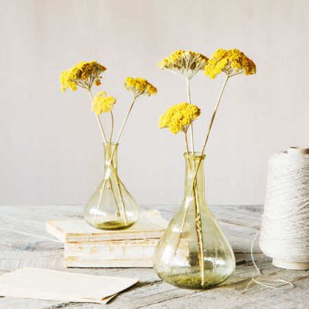 Olive Green Glass Vases