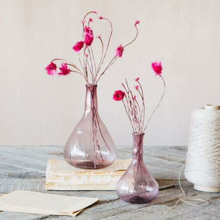 Lilac Glass Vases