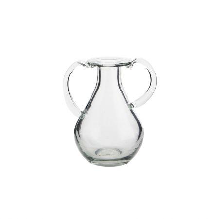 Glass Vase with Handles