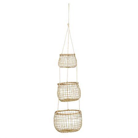 Set of Three Hanging Baskets