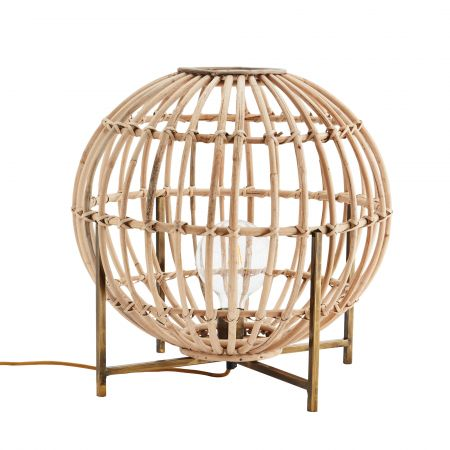 Bamboo Sphere Floor Lamp
