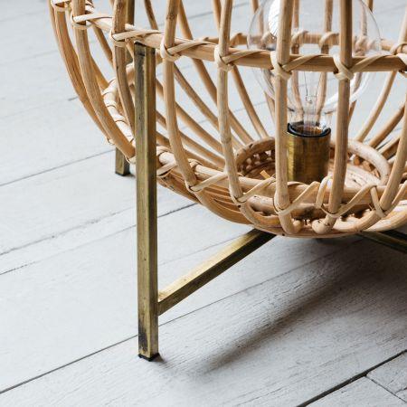 Bamboo Sphere Floor Lamp