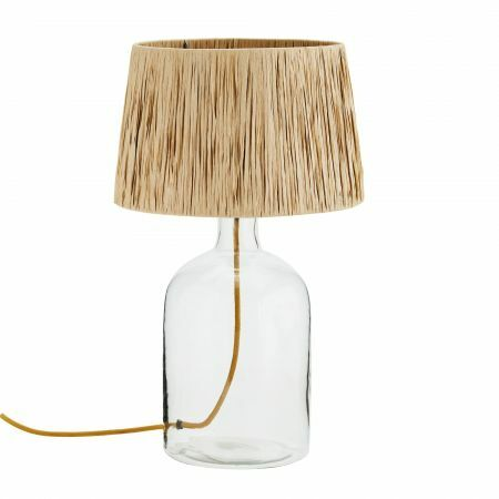 Seville Glass and Raffia Lamp