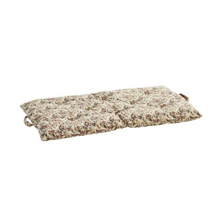Long Cream Floral Seat Pad