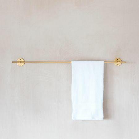 Toro Gold Single Towel Rail
