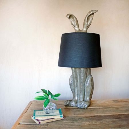 Silver Hetty Hare Table Lamp