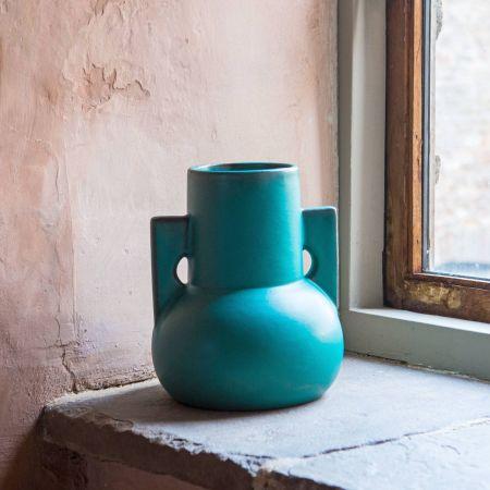 Teal Terracotta Vase
