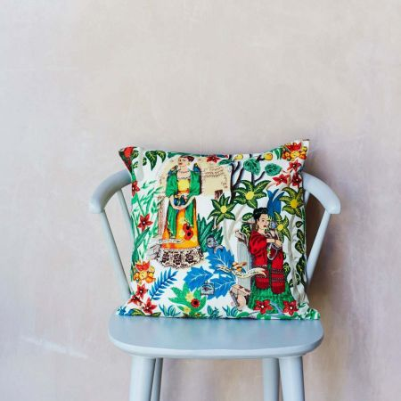 Mexicana Tapestry Print Cushion