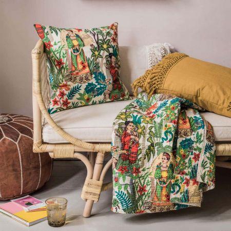Mexicana Tapestry Print Cushion
