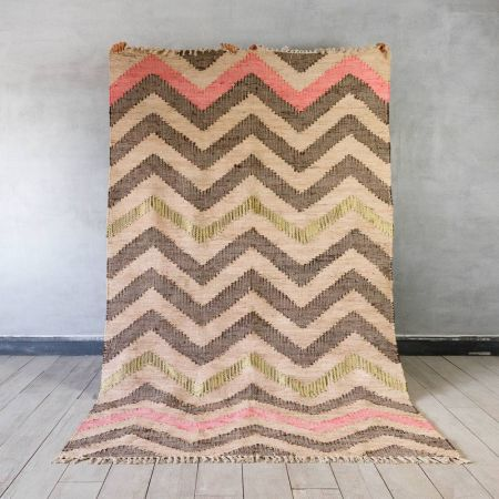 Adair Zig Zag Multi Rug With Metallic Yarn