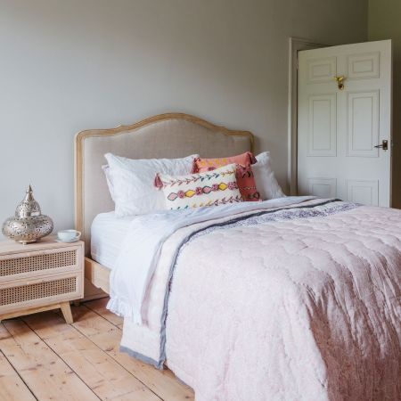 Lucinda Hand Printed Super King Size Quilt