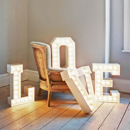 Metal Letter Lights