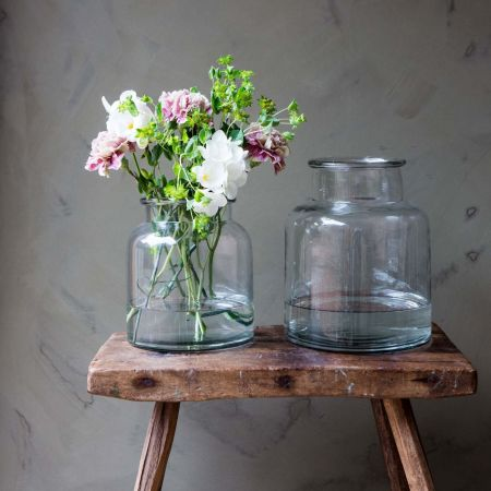 Wide Glass Vases