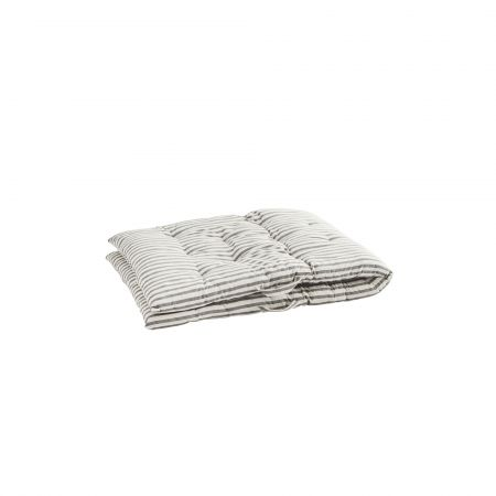 Grey Striped Bed Roll