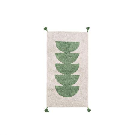 Green Tasselled Rug