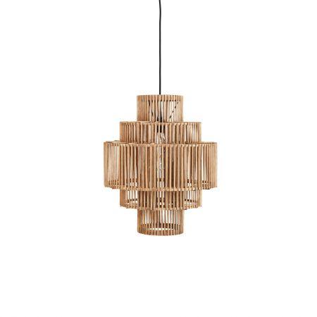 Tiered Bamboo Pendant Light