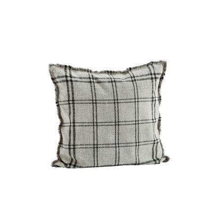 Grey Checked Cushion
