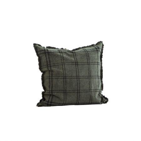 Charcoal Checked Cushion