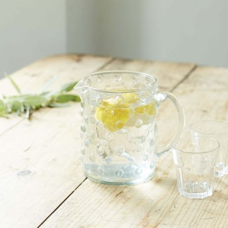 Dotty Glass Jug - Thumbnail
