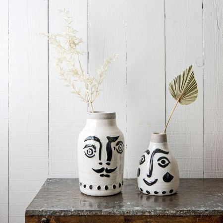 Face Print Vases