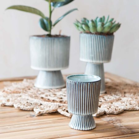 Small Striped Pot
