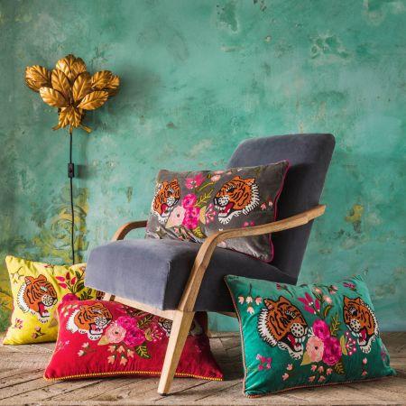 Velvet Tiger Cushions