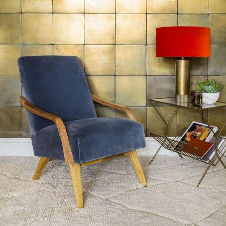 Edgar Grey Velvet Chair