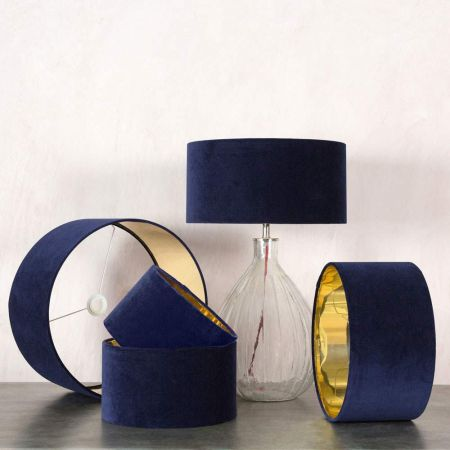 Midnight Velvet Lamp Shades