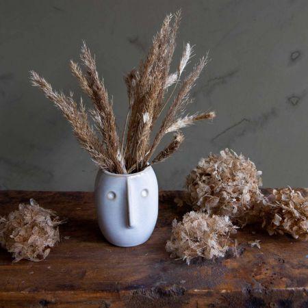 White Bob Face Vase