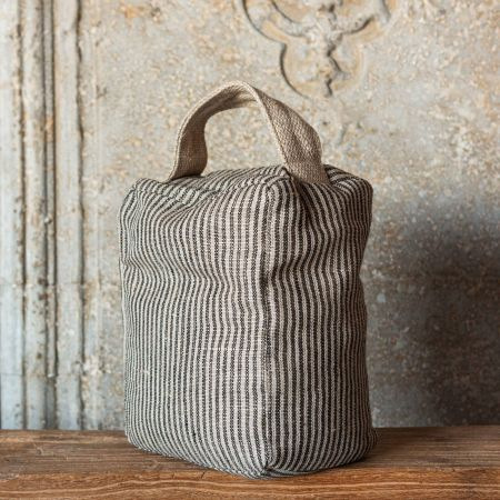 Striped Linen Door Stop