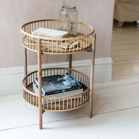 Verona Bamboo Side Table