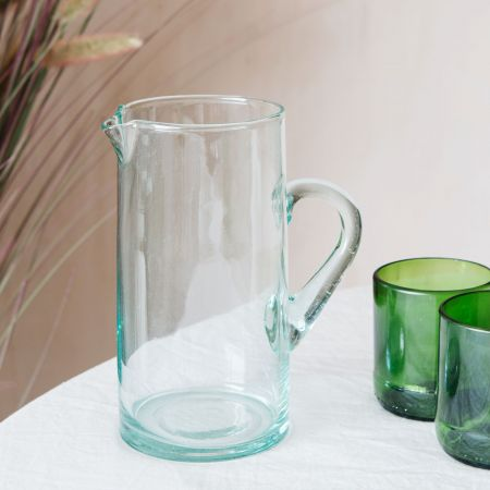 Clear Recycled Glass Jug