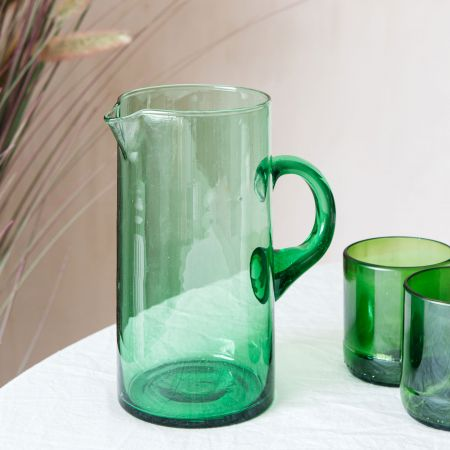 Green Recycled Glass Jug