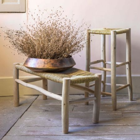 Palm Leaf Bar Stool