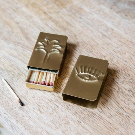 Brass Palm Match Box Cover