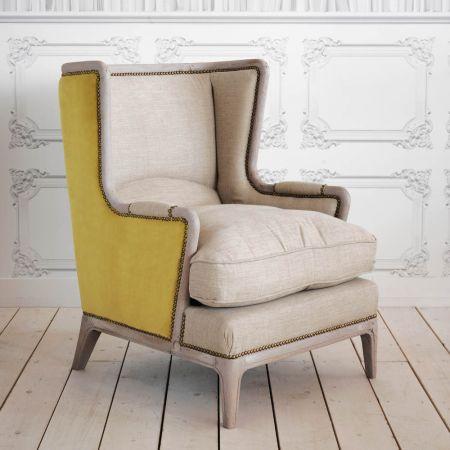 Valentin Yellow Velvet Armchair