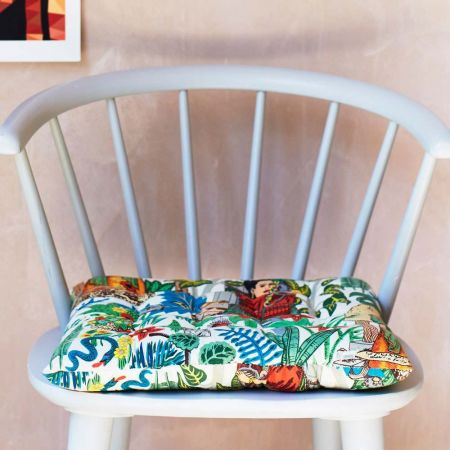 Mexicana Tapestry Print Seat Pad