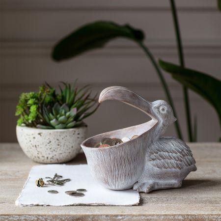 White Percy Pelican Dish